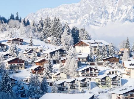 swiss alps: Zima w Alpach szwajcarskich (Flumserberg, St.Gallen, Szwajcaria) Zdjęcie Seryjne