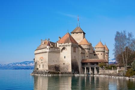 Chillon castle, Geneva lake (Lac Leman), Switzerland Stock Photo - 15132846