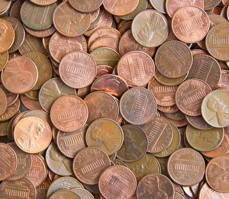 Background made of US cents photo