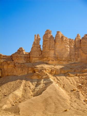 Clay rotsen rond Riyadh stad in Saoedi-Arabië