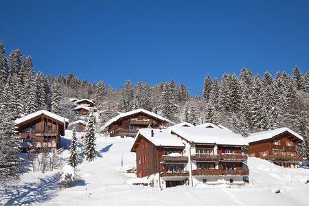 Typical swiss winter season landscape. January 2011, Switzerland.