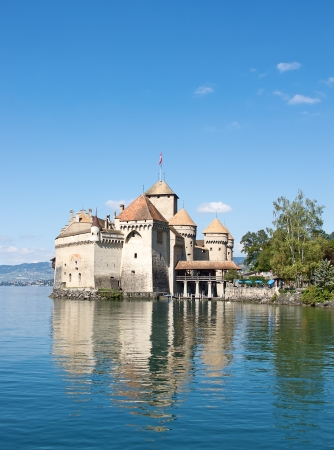 leman: Chillon castle, Geneva lake  Lac Leman , Switzerland Editorial