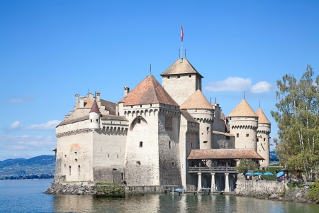 Chillon castle, Geneva lake (Lac Leman), Switzerland Stock Photo - 15461293