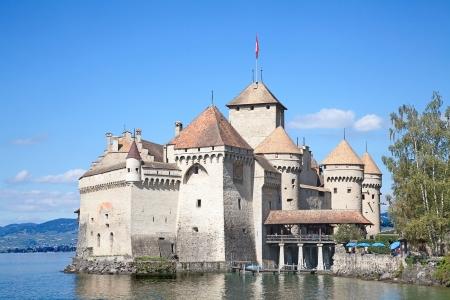 leman: Chillon castle, Geneva lake (Lac Leman), Switzerland Editorial
