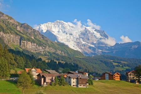jungfraujoch: Summer landscape in the Jungfrau region