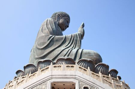 Buddha statue sitting on the Lantau island (Hong Kong) photo