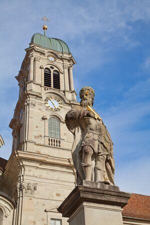 benedictine: Abad�a benedictina de Einsiedeln, cerca de Zurich, Suiza Foto de archivo