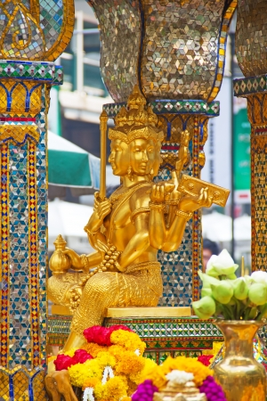 The Erawan Shrine in Bangkok, Thailand photo