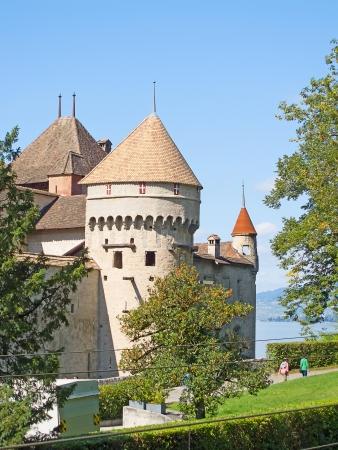 Chillon castle, Geneva lake (Lac Leman), Switzerland Stock Photo - 15670996