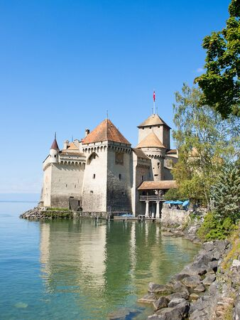 Chillon castle, Geneva lake (Lac Leman), Switzerland Stock Photo - 15670978