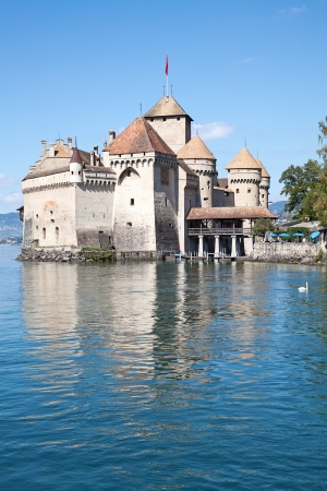 Chillon castle, Geneva lake (Lac Leman), Switzerland