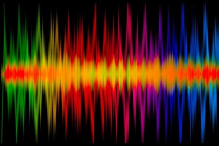 Kleurrijke muziek Grafiek op de zwarte