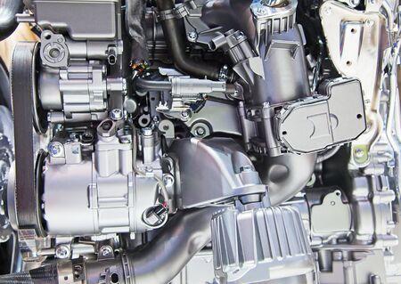 shiny car: Shiny engine of the modern car