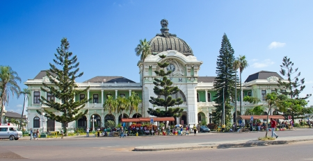 Maputo train station in Mozambique photo