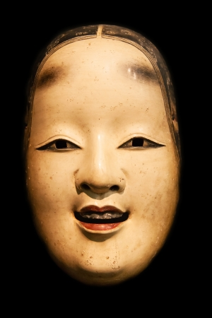 Ko-Kasshiki (young servant) mask from japanese Noh theatre photo