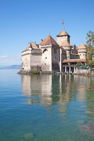 Chillon castle, Geneva lake (Lac Leman), Switzerland Stock Photo - 17024901