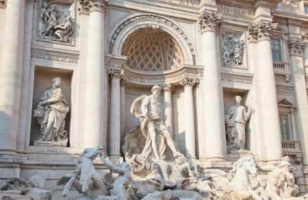 Trevi Fountain in Rome - Italy. (Fontana di Trevi) is one of the most famous landmark in Rome. Stock Photo - 17021866