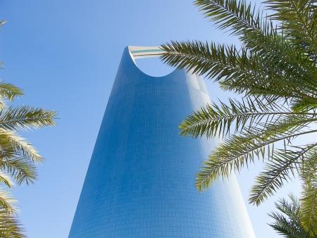 KSA: RIYADH - DECEMBER 22: Kingdom tower on December 22, 2009 in Riyadh, Saudi Arabia. Kingdom tower is a business and convention center, shoping mall and one of the main landmarks of Riyadh city
