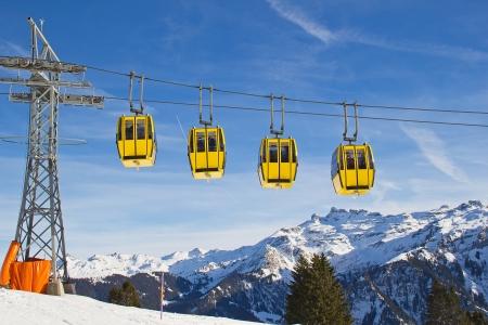 Typical swiss winter season landscape. December 2012, Switzerland. photo