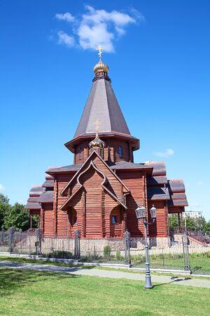 baroque gate: All Saints church in Minsk, Republic of Belarus Stock Photo