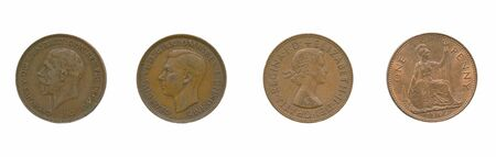 numismatic: Ancient UK penny (different rulers)