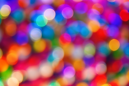 color: blurred defocused multi color lights
