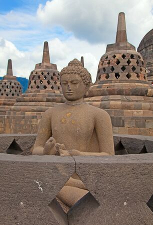 Borobudur temple near Yogyakarta on Java island, Indonesia Stock Photo - 19283549
