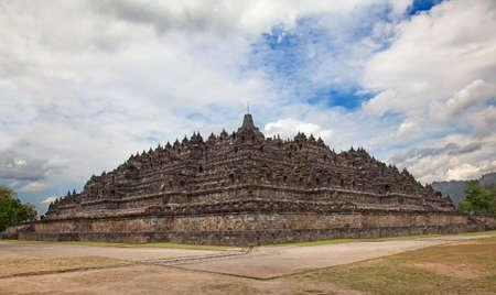 Borobudur temple near Yogyakarta on Java island, Indonesia Stock Photo - 19283498