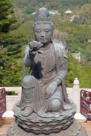 lantau: Complesso di Buddha Giant sulla l'isola Lantau (Hong Kong)