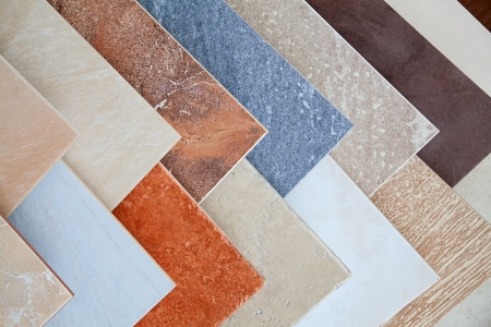 ceramic: Samples of a ceramic tile in shop