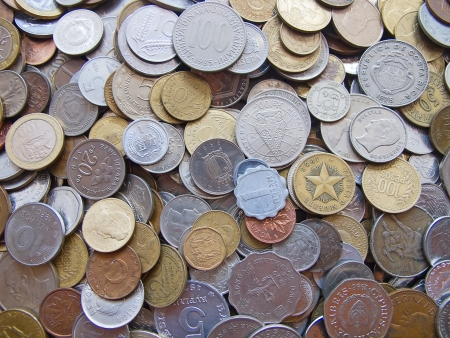Collection of the old coins photo