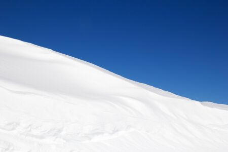 Snow drifts in the swiss alps photo