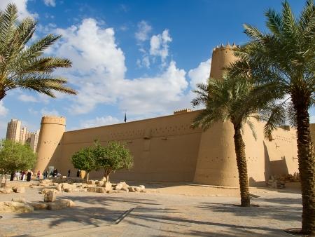 Al Masmak fort in de stad Riyadh, Saudi-Arabi Stockfoto