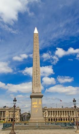 obelisk stone: Egyptian obelisk in Paris, France