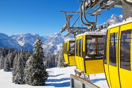 Typical swiss winter season landscape. January 2011, Switzerland. Standard-Bild