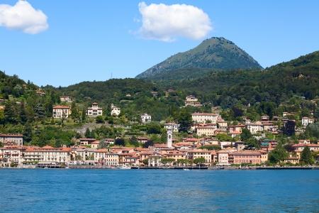 Panoramic view of Menaggio town (Como lake, Italy) photo