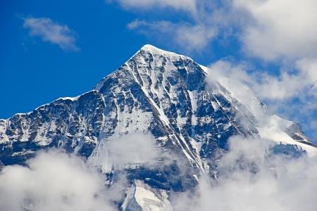jungfraujoch: North face of Eiger mountain in the Jungfrau region Stock Photo