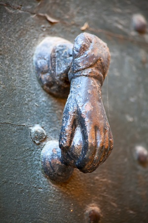 retro door knob from Italian region Lombardy photo