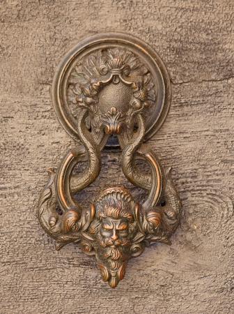 doorknocker: retro door knob from Italian region Lombardy Stock Photo