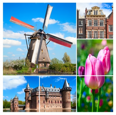 made in netherlands: Collage made of various photos from Netherlands