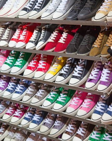 plimsoll: lots of sneaker shoes on sale
