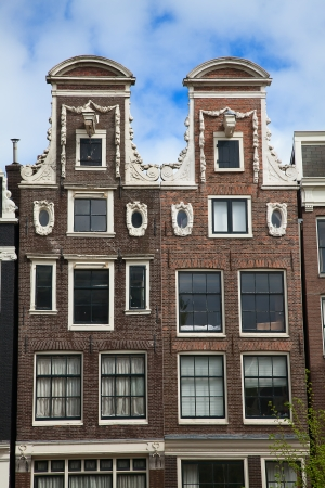 Traditional houses of the Amsterdam, Netherlands photo