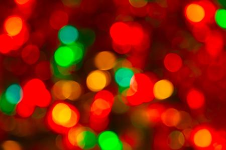holiday lighting: Fragment of the Christmas tree decoration Stock Photo