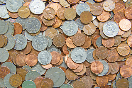 Huge pile of the US coins photo