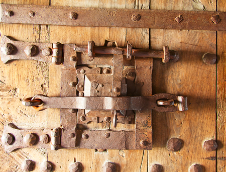 Ancient lock in the medieval castle Aigle, Switzerland photo