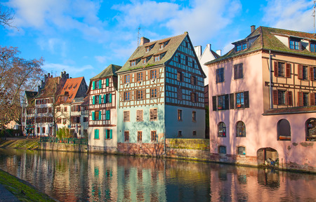 Historic houses in the famous Petite France district of Strasbourg