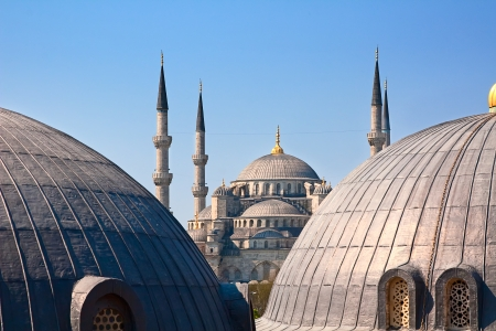 Famous Blue mosque in Istanbul city