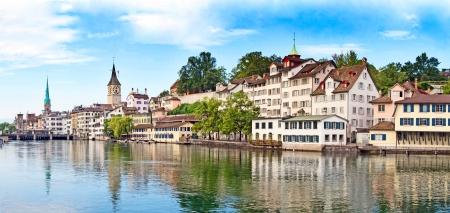 Panoramic view of the Zurich donwtown (Switzerland, 2009) photo