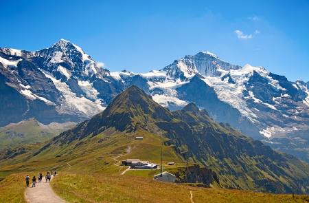Eiger berg in de regio Jungfrau Stockfoto