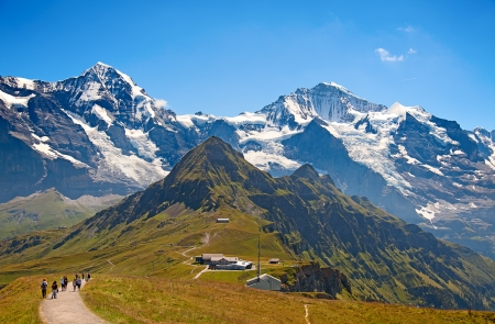 Eiger mountain in the Jungfrau region 免版税图像